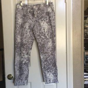 Calvin Klein gray with white jean pants